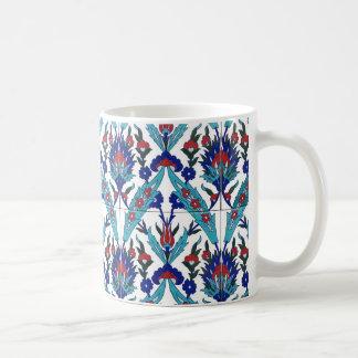 トルコのIznikの花柄パターン コーヒーマグカップ
