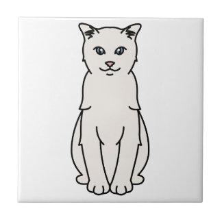 トルコのVankedisi猫の漫画 正方形タイル小