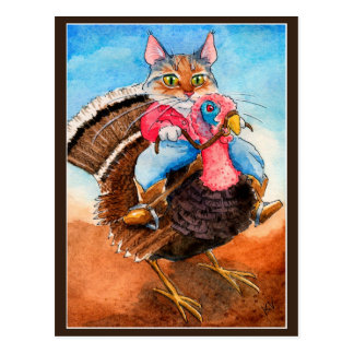トルコラングラーおもしろいな猫の郵便はがき ポストカード