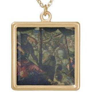トルコ人とクリスチャン、c.1588/89 (oiの間で戦って下さい ゴールドプレートネックレス