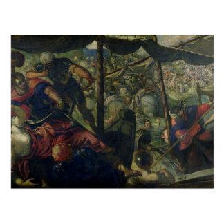 トルコ人とクリスチャン、c.1588/89 (oiの間で戦って下さい ポストカード