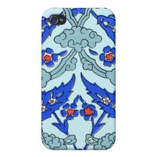 トルコ人のボーダー青緑のタイルパターン iPhone 4/4S ケース