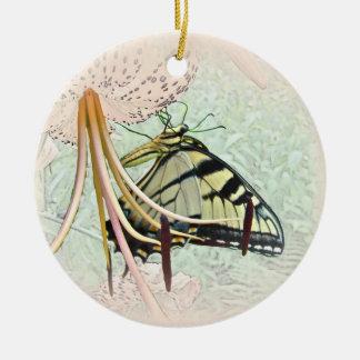 トルコ人の帽子ユリのトラのアゲハチョウの蝶 セラミックオーナメント