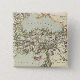 トルコ帝国、ギリシャ、ルーマニア 5.1CM 正方形バッジ