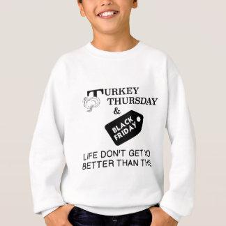 トルコ木曜日及び黒い金曜日 スウェットシャツ