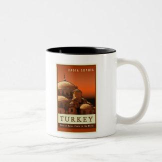 トルコ ツートーンマグカップ