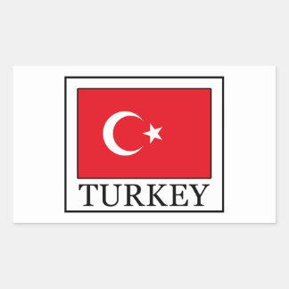 トルコ 長方形シール