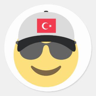トルコEmojiの野球帽 ラウンドシール