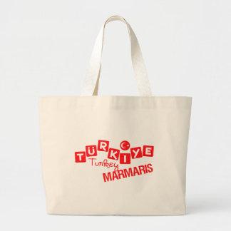 トルコMARMARISのバッグ-スタイル及び色を選んで下さい ラージトートバッグ