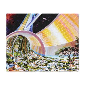 トルスの宇宙の生息地の芸術家の概念 キャンバスプリント