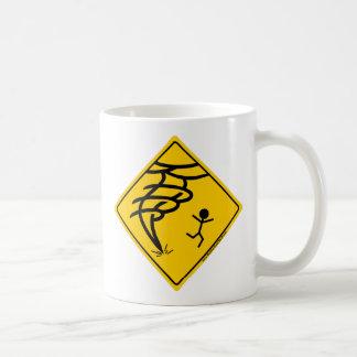 トルネード警告標識 コーヒーマグカップ