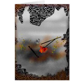 """""""トルネード""""抽象的な絵画 カード"""