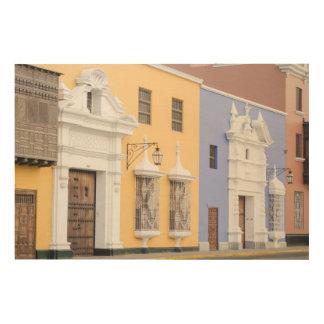 トルヒーヨ、ペルー。 トルヒーヨの華美な建築 ウッドウォールアート