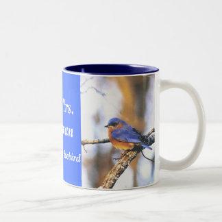 トルーマンの夫人trumanEasternブルーバードのコーヒーカップ氏 ツートーンマグカップ