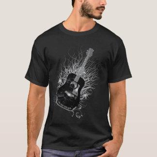 トルーマンオランダのギターの木のDiagメンズ黒 Tシャツ