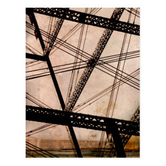トレッスル橋を「ケーブルで通信します」 ポストカード