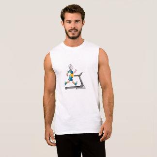 トレッドミルのフィットネスの人 袖なしシャツ
