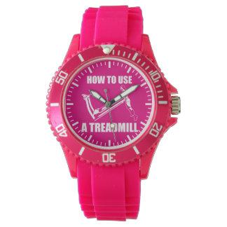 トレッドミル-女性のおもしろいなノベルティのトレーニング 腕時計