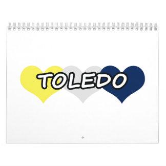 トレドの三重のハート カレンダー