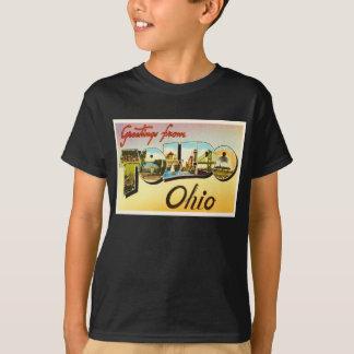 トレドオハイオ州オハイオ州の古いヴィンテージ旅行記念品 Tシャツ