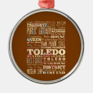 トレド、オハイオ州の魅力及び有名な場所 メタルオーナメント