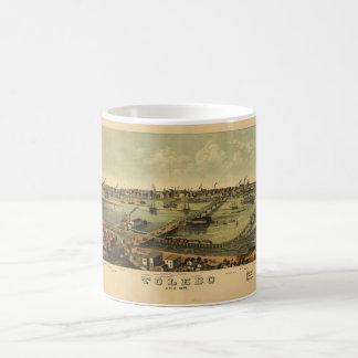 トレド、オハイオ州(1876年)の空中写真 コーヒーマグカップ