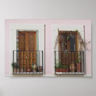 トレド、スペインの二重戸口 ポスター