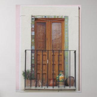 トレド、スペインの戸口 ポスター