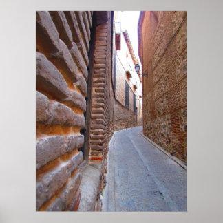 トレド、スペインの裏通り ポスター