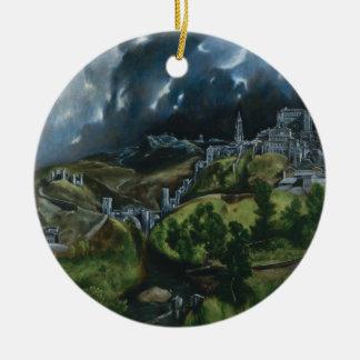 トレド、El Grecoの眺め セラミックオーナメント