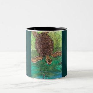 トレバーカメのマグ ツートーンマグカップ