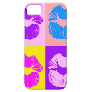 トレンディーによってしわを寄せられる唇のキスのレトロのポップアート iPhone SE/5/5s ケース