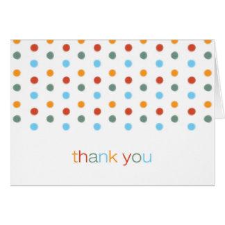 トレンディーによって絵を描かれる水玉模様はメッセージカード感謝していしています カード