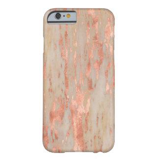 トレンディーのばら色の金ゴールドのジェノアの大理石の石 BARELY THERE iPhone 6 ケース