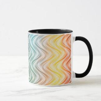 トレンディーのクールな色の抽象美術 マグカップ