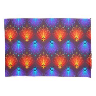 トレンディーの抽象的で青およびオレンジ翼 枕カバー