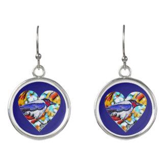 トレンディーの色彩の鮮やかなカラスのイヤリング イヤリング