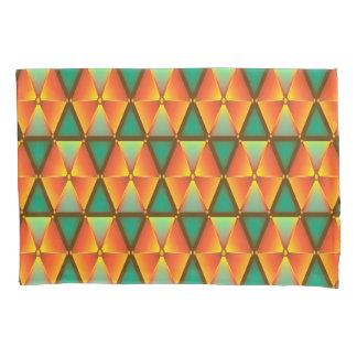 トレンディーのDaimond抽象的なオレンジおよび緑のパターン 枕カバー
