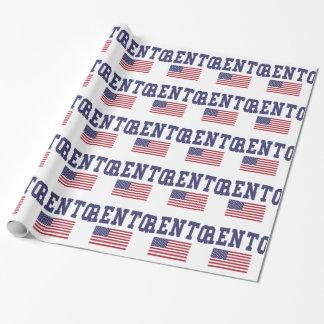 トレントン米国の旗 ラッピングペーパー