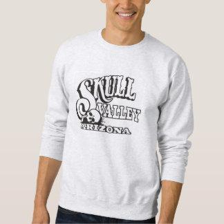 トレーナー、スカルの谷、アリゾナとの灰灰色 スウェットシャツ
