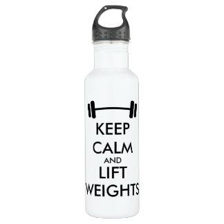トレーニングのための穏やかな重量挙げを保って下さい ウォーターボトル