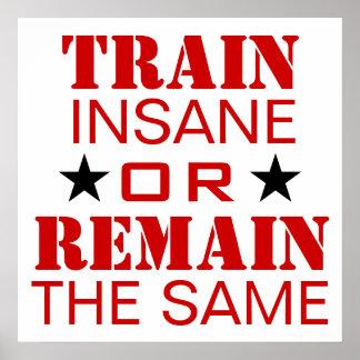 トレーニングの刺激 ポスター