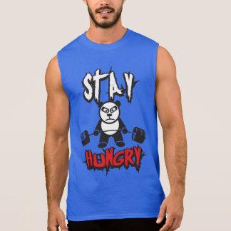 トレーニングの刺激-空腹な滞在 袖なしシャツ