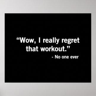 トレーニングの後悔 ポスター