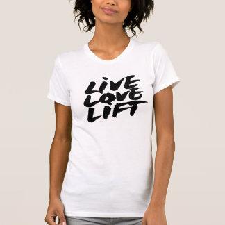 トレーニングのTシャツ生きている愛上昇 Tシャツ