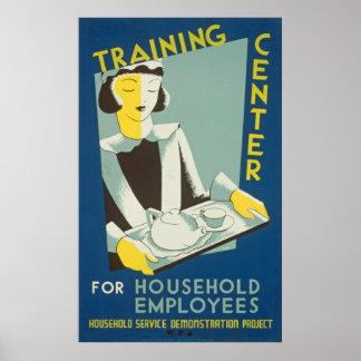 トレーニングセンターのヴィンテージポスター ポスター