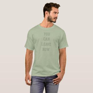 トレーニング人の家に今行くことができます基本的なTシャツ Tシャツ
