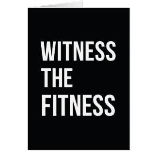 トレーニング引用文の証人フィットネスの白黒 カード