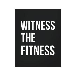 トレーニング引用文の証人フィットネスの白黒 キャンバスプリント