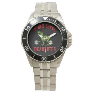 トレーニング- TレックスDeadliftsを愛します-ボディビル 腕時計